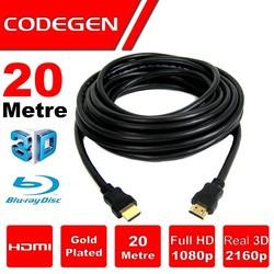 CODEGEN - CODEGEN CPS200 20M HDMI v1.4 3D Ağ Destekli Altın Uçlu HDMI Görüntü Kablosu