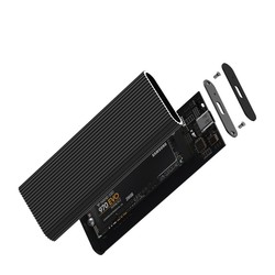CODEGEN M2 Type-C CDG-SSD-10BC PCIe NVMe M2 Alüminyum Harddisk Kutusu Siyah - Thumbnail