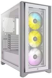 CORSAIR - CORSAIR CASE - CC-9011205-WW 4000X RGB TG WHITE iCUE 4000X RGB Tempered Glass Mid-Tower, White