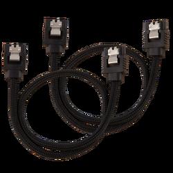 CORSAIR - CORSAIR CC-8900248 Premium Sleeved SATA 6Gbps 30cm Cable — Black