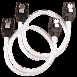 CORSAIR - CORSAIR CC-8900248 Premium Sleeved SATA 6Gbps 30cm Cable — White