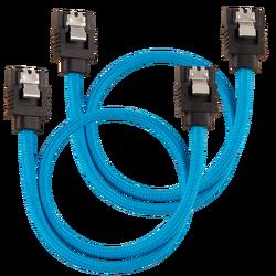 CORSAIR - CORSAIR CC-8900251 Premium Sleeved SATA 6Gbps 30cm Cable — Blue