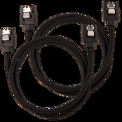 CORSAIR - CORSAIR CC-8900252 Premium Sleeved SATA 6Gbps 60cm Cable — Black