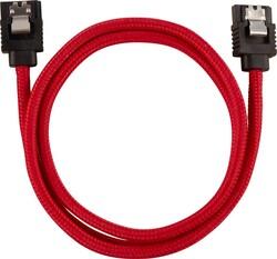 CORSAIR - CORSAIR CC-8900254 Premium Sleeved SATA 6Gbps 60cm Cable — Red