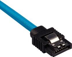 CORSAIR - CORSAIR CC-8900255 Premium Sleeved SATA 6Gbps 60cm Cable — Blue