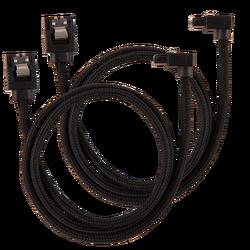 CORSAIR - CORSAIR CC-8900278 Premium Sleeved SATA 6Gbps 30cm 90° Connector Cable — Black