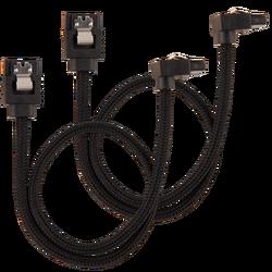 CORSAIR - CORSAIR CC-8900282 Premium Sleeved SATA 6Gbps 60cm 90° Connector Cable — Black