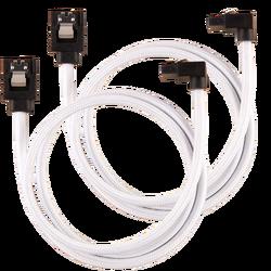 CORSAIR - CORSAIR CC-8900283 Premium Sleeved SATA 6Gbps 60cm 90° Connector Cable — White