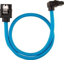 CORSAIR - CORSAIR CC-8900285 Premium Sleeved SATA 6Gbps 60cm 90° Connector Cable — Blue
