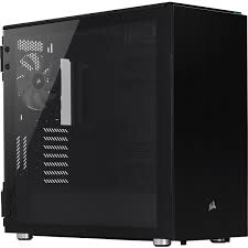 CORSAIR - CORSAIR CC-9011167-WW 678C LOW NOISE TEMPERED GLASS ATX CASE BLACK
