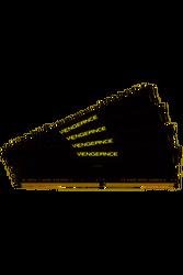 CORSAIR - CORSAIR CMK32GX4M4Z3200C16 32GB (4X8GB) DDR4 3200MHz CL18 VENGEANCE BLACK LPX SOGUTUCULU DIMM BELLEK
