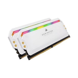 CORSAIR - CORSAIR CMT16GX4M2Z3200C16W 16GB (2X8GB) DDR4 3200MHz CL16 DOMINATOR PLATINUM RGB SOĞUTUCULU BEYAZ DIMM BELLEK
