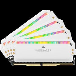 CORSAIR - CORSAIR CMT32GX4M4K4000C19W 32GB (4X8GB) DDR4 4000MHz CL19 DOMINATOR PLATINUM RGB SOĞUTUCULU BEYAZ DIMM BELLEK