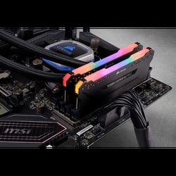 CORSAIR CMW16GX4M2D3600C18 16GB (2X8GB) DDR4 3600MHz CL18 VENGEANCE RGB PRO SOĞUTUCULU SIYAH DIMM BELLEK - Thumbnail