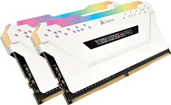 CORSAIR - CORSAIR CMW16GX4M2D3600C18W 16GB (2X8GB) DDR4 3600MHz CL18 VENGEANCE BEYAZ RGB PRO SOĞUTUCULU DIMM BELLEK