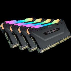 CORSAIR - CORSAIR CMW32GX4M4D3600C18 32GB (4x8GB) DDR4 3600 MHz C18 VENGEANCE BLACK RGB PRO DIMM BELLEK