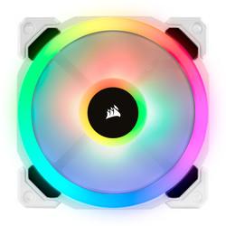 CORSAIR - CORSAIR CO-9050092-WW LL120 RGB 120mm DUAL LIGHT LOOP RGB LED PWM FAN 3 FAN PACK WITH LIGHTING NODE PRO WHITE