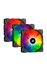 CORSAIR - Corsair CO-9050094-WW SP120 RGB PRO, 120mm RGB LED Fan, Triple Pack with Lighting Node Core