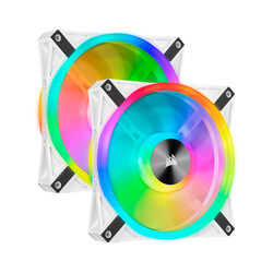 CORSAIR - CORSAIR CO-9050106-WW QL140 RGB 140 MM DORT RGB RENK DONGULU BEYAZ PWM FAN LIGHTING NODE CORE KONTROLCU ILE BIRLIKTE 2 LI PAKET