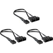 CORSAIR - CORSAIR CX-9070003-WW Hydro X Series Two-Way PWM Fan Splitter Cables (Three Pack)