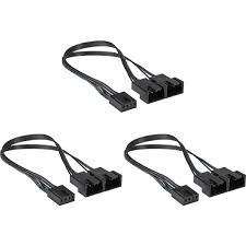CORSAIR CX-9070003-WW Hydro X Series Two-Way PWM Fan Splitter Cables (Three Pack)