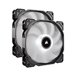 CORSAIR - CORSAIR FAN CO-9050088-WW AF140 LED Low Noise Cooling Fan, Dual Pack - White