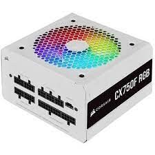 CORSAIR - CORSAIR PSU - CP-9020227-EU CX750F RGB White, 750 Watt, 80 PLUS Bronze, Fully Modular RGB White PSU, EU Version