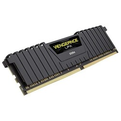 CORSAIR - CORSAIR RAM - CMK32GX4M1A2666C16 VENGEANCE® LPX 32GB (1 x 32GB) DDR4 DRAM 2666MHz C16 Memory Kit - Black