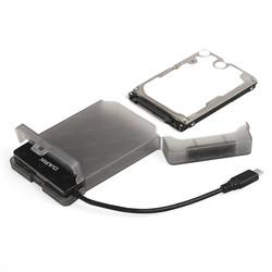 DARK DK-AC-DSE210 2.5'' HDD/SSD DESTEKLİ USB3.1 (TYPE-C) 5GBPS SEFFAF DİSK KUTUSU - Thumbnail