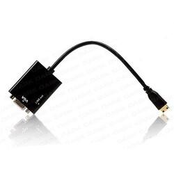 DARK - Dark DK-HD-AHDMINIXVGA Mini HDMI To VGA Aktif Dönüştürücü Adaptör