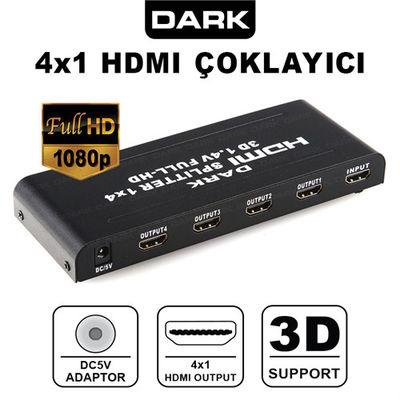 Dark DK-HD-SP4X1 Full HD 1 Giriş 4 Port HDMI Split
