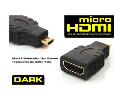 Dark Micro HDMI - HDMI Dönüştürücü Cep Telefonu