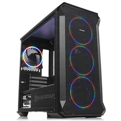 DARK - DARK Powersiz GUARDIAN DKCHGRMINI 4 X RGB FANLI GAMING MID-TOWER KASA