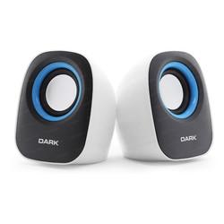 DARK - DARK SP100 1+1 MULTIMEDIA USB HOPARLOR BEYAZ/MAVI (DK-AC-SP100)