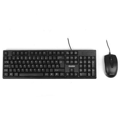 DARK USB F Trk Optic Mouse Siyah Standart Klavye Mouse Set DK-AC-KM1020F