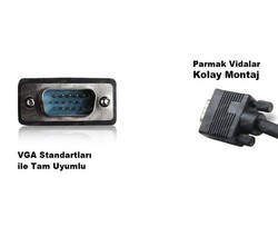 DARK - Dark VGAL1000 10 Metre Projeksiyon Data Kablosu