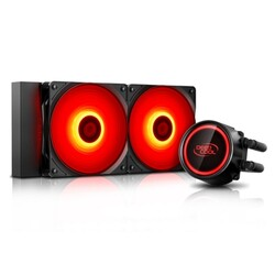 DEEP COOL - Deep Cool Gammaxx L240T-RED 240mm Sıvı CPU Soğt.AM4-AM3+-LGA20XX-LGA1366-LGA115X