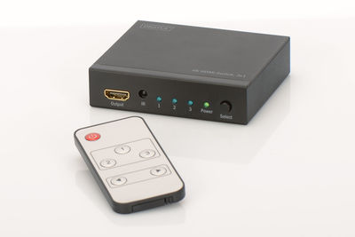 DIGITUS DS-48304 4K HDMI Switch 3x1 Supports 4K2K 3D Vid. Formats İncl. Çoklayıcı