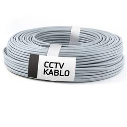 EKO - EKO 2X0.22 + 0.22 100m 2+1 CCTV Gri Kablo