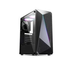 ELBA - Elba G025 Cam Panel 3xRGB Fan Atx Gaming Oyuncu Kasası