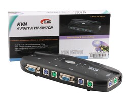 ELBA - Elba M104 Manual 4PC-1MN PS2 Kvm Switch