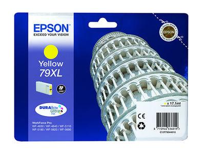 EPSON C13T79044010 SİNGLEPACK YELLOW 79XL DURABRİTE ULTRA INK,WorkForce Pro WF-5110DW,WorkForce Pro WF-5190DW,WorkForce Pro WF-5620DWF,WorkForce Pro WF-5690DWF