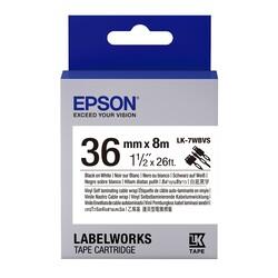 EPSON - Epson LK-7WBVS SLCW Beyaz Üzeri Siyah 36MM 8 Metre Etiket
