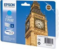 EPSON - Epson T7032 Cyan Mavi 800 Sayfa Mürekkep Kartuş T70324010