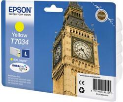 EPSON - Epson T7034 Yellow Sarı 800 Sayfa Mürekkep Kartuş T70344010