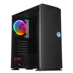 EVEREST - EVEREST KASTRA Real 500W Siyah 4 Adet Rainbow Fanlı Kasa