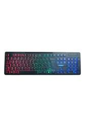 EVEREST - EVEREST KB-120 Sleek Q Türkçe USB Gökkuşağı Aydınlatmalı Siyah Gaming Klavye
