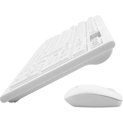 EVEREST KM-6121 Q Slim Kablosuz Beyaz Klavye-Mouse Set