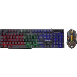 EVEREST - EVEREST KM-G77 X-VAYNE Q Türkçe USB Gökkuşağı Zemin Aydınlatmalı Siyah Klavye + Mouse Seti