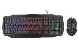 EVEREST - EVEREST KMX-86 Olivine Siyah Usb Gökkuşağı Zemin Aydınlatmalı Q Standart Klavye + Mouse